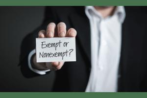 exempt or nonexempt employees