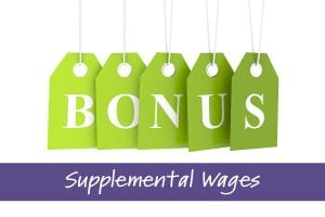 Bonuses Supplemental Wages