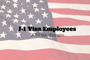 J-1 Visa employee taxes