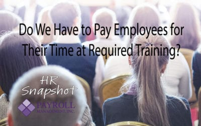 Do We Have To Pay Employees For Required Training?
