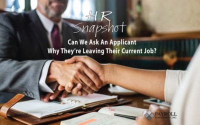 Can We Ask An Applicant Why They Are Leaving Their Current Job?